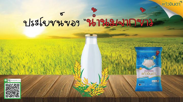 ประโยชน์ของน้ำนมข้าว